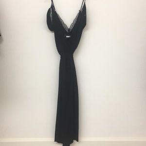 Reformation black cold shoulder lace dress